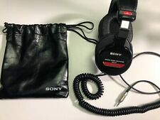 Sony MDR-V6 Over the Ear Headphones - Black - Good Condition