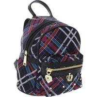JUICY COUTURE 9286 Women On Tour Plaid Studded MINI BACKPACK, NEW
