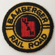 """Vintage Train Patch Bamberger Utah Railroad RR 2"""" Round Unsewn"""