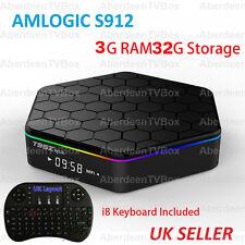T95Z Plus S912 3G RAM/32G Octa Core Android 6.0 TV Box KODI 17.1 5Ghz WIFI, i8