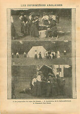 Red Cross Tents Nurses Ambulance Infirmières Croix Rouge UK & 1910 ILLUSTRATION