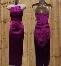 14 UK KAREN MILLEN Magenta Gala Wedding Long Ballgown Party Maxi Wiggle Dress