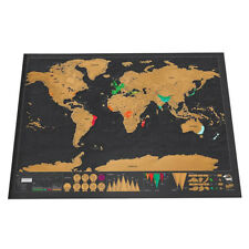 Travel World Map Scratch Off Big Deluxe Poster Atlas Personalized Journal Log