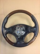 MGF / MG TF - Steering Wheel - Walnut /  Wood / Wooden & Black Leather - RARE