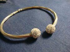 Gem Stone Chunky Tennis Bracelet Grandmas Vermeil 925 Sterling Silver