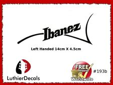 Ibanez Lefthanded Guitar Headstock Decal Restoration Waterslide inlay Logo 193b