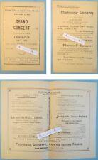 Saleux Salouel 1920 programme concert publicité Pharmacie Lamarre Amiens duméril