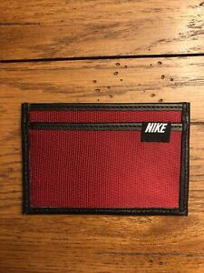 Nike Cardinal red Nylon/leather Front Pocket Wallet