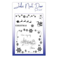 John Next Door Noël Scène Clair 10 Stamp Set by John Lockwood JND0009
