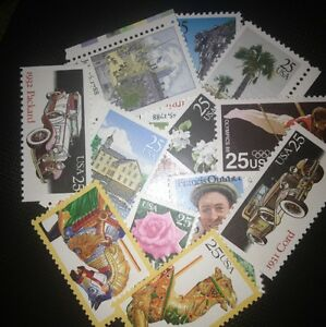 20 MNH  All Different 25 cent stamps