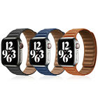 For 38/40/42/44mm Apple Watch Series 6 5 4 3 SE Leather Link Band Magnetic Strap