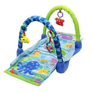 3 in 1 Sea Life Baby Play Mat Fun Lay & Play Crawl Through Tunnel Playmat