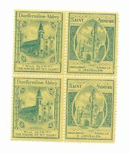 Great Britain Scottish Sunday School stamps 1890 se-tenant block 4,Dunfermline