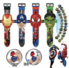 Marvel Superheroes Spiderman Captain Ironman Hulk Thanos 3D Kids Digital Watch