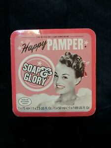 Soap & Glory Happy Pamper Original Pink Rose & Bergamot Body Butter & Shower Set