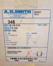 Century AO Smith 348 Fan Coil Motor 1/6 1/8 1/10 HP Split-Phase 1050 RPM 230V