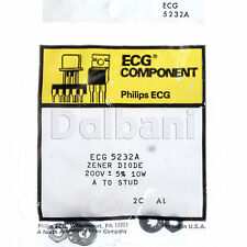 ECG5232A NTE5232A Zener Diode Philips ECG Component 200V ± 5% 10W A TO STUD