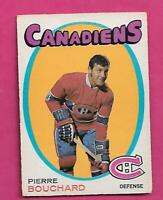 1971-72 OPC # 2 CANADIENS PIERRE BOUCHARD ROOKIE VG+  CARD (INV# D5852)