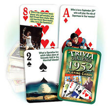 Flickback 1952 Trivia Playing Cards:  65th Birthday or 65th Anniversary Gift