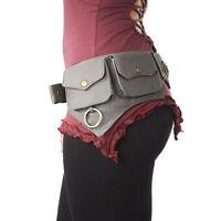Steampunk Utility belt Festival Pocket Belt Psy Trance Gypsy Fanny Pack Hip Belt