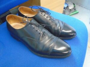 Crockett & Jones Connaught English made black leather Oxford shoes size 9.5F