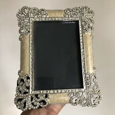 Beautiful Olivia Riegel Bejeweled Enameled Metal Photo Picture Frame 3.5� x 5�