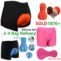 100% Silicone Gel Cycling 3D Pad Bicycle Underwear Sport Underpant Bike Short