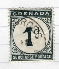GRENADA;  1892 early Postage Due issue fine used 1d. value