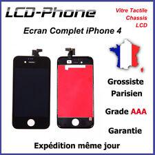Ecran iPhone 4 Noir LCD + Vitre Tactile Sur Chassis - Grade AAA ENVOI 24H✔