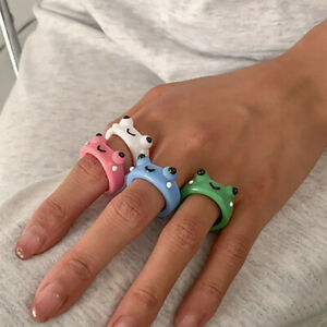 Frog Ring Polymer Clay Resin Rings for Girls Animal Jewelry for Women  Fashion+