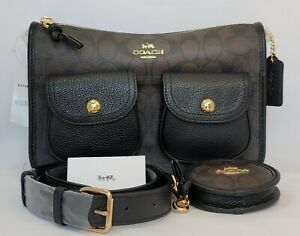 Coach Signature Pennie Xbody With Detachable Coin Case Code C5675. NWT $428