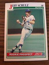 1991 Score Rookie Prospect Jeff Schulz Kansas City Royals 336