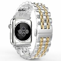 Stainless Steel Wrist Watch Band Strap Bracelet For Apple Watch Series 5/4/3/2/1