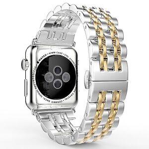 Stainless Steel Wrist Watch Band Strap Bracelet Apple Watch Series 6/5/4/3/2/1
