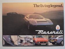 MASERATI RANGE orig 1980 1981 UK Mkt Sales Brochure - Khamsin Kyalami Merak SS
