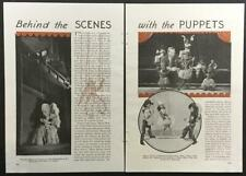 1934 Marionette article Podrecca's Piccoli Theater Yale Puppeteers I Am Suzanne