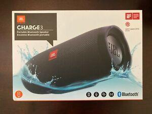 Factory Sealed JBL Waterproof Bluetooth Wireless Portable Speaker CHARGE 3 Black