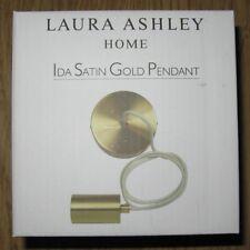 3 x  Laura Ashley Ida Satin Gold Pendant light fitting