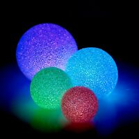 Colour Changing LED Light Up Balls Glitter Ornament Christmas Wedding Decoration