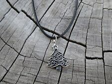 Tropicalia Handcrafted Black Necklace Christmas Tree Alloy Charm Boho Indie