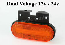 LED side marker light lamps AMBER orange indicator lorry truck trailer 12/24V