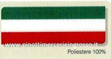 NASTRO IN TESSUTO GROS GRAIN TRICOLORE ITALIA MM.5 (CM0,5) - ROTOLO DA 25 MT