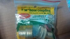 "Nelson  7/16"" HOSE COUPLING N-85 for plastic hose  Reusable #P101"