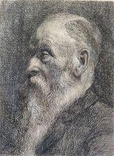 Très rare Portrait de Camille Pissarro (1830-1903) gravure en pointe sèche !