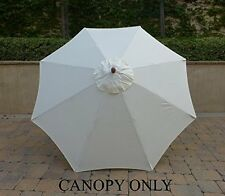 9ft Replacement Market Umbrella Canopy 8 Ribs in Off White (Canopy Only)