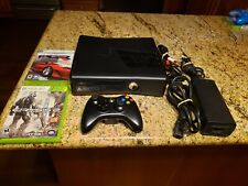 XBOX 360 S Console Model 1439 4GB - Bundle: Controller,  Cables, Games