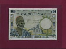 West African States  BURKINA FASO 5000 Francs 1961 P-304Ci VF UPPER VOLTA RARE