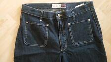 HIS Jeans,  halbe Wade,  dark denem,  Elastanthan Anteil Gr. 42 /