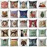 """18"""" Xmas Christmas Cotton Linen Throw Pillow Case Cushion Cover Home Decor Gift"""