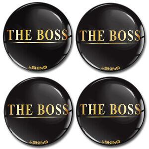 65mm Coprimozzo Adesivi Copricerchi Tappi Ruote Cerchi Il Logo Capo The Boss A47